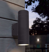 Picture of 2 X Black Stainless Steel Double Outdoor Wall Light IP65 Up/Down Outdoor Wall Light